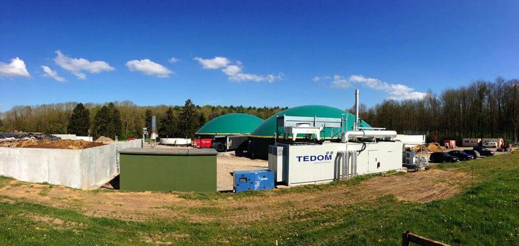 Bioplynová instalace v Belgii