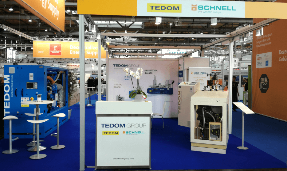 Information about displayed TEDOM CHP units