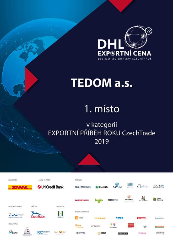 TEDOM získal exportní cenu DHL