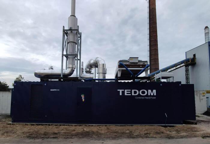 Trigenerace TEDOM v Polsku je již plně připravena na provoz