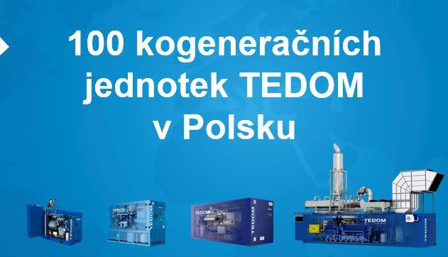 Již 100 kogeneračních jednotek TEDOM v Polsku