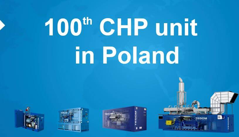 One hundred TEDOM CHP units in Poland