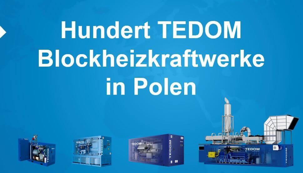 Hundert TEDOM-Blockheizkraftwerke in Polen